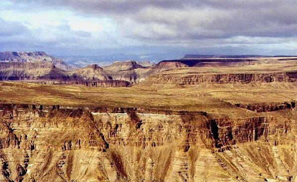 Рыбная река каньон