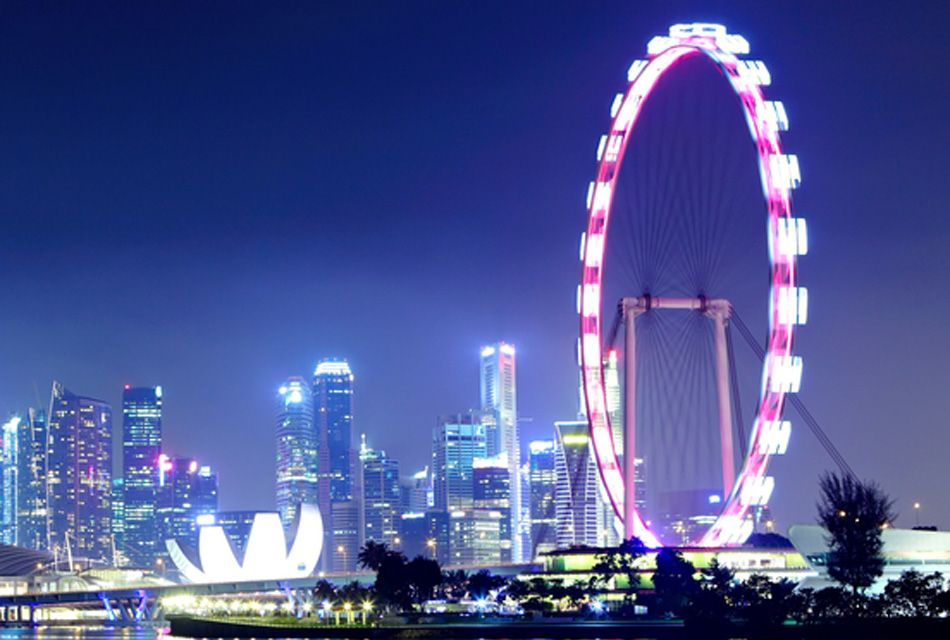 Где находится самое большое колесо обозрения в мире?