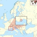 Монако на карте Европы