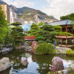 Вид на дом в японском стиле