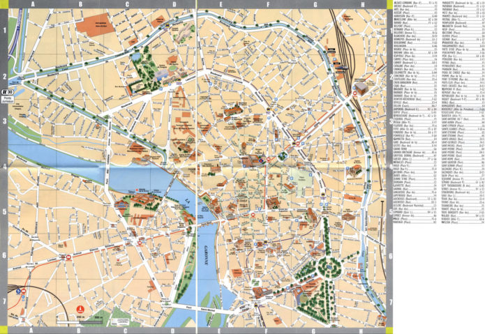 Туристическая карта Тулузы