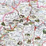 Карта основных достопримечательностей Словакии