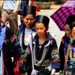 Женщины из племени чёрных хмонгов