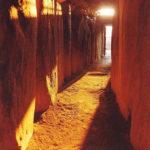 Подземный коридор, освещённый солнцем